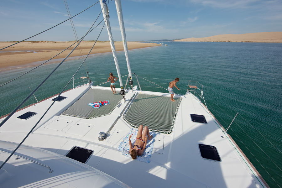 When yachting in Phuket with children and young people you have to prepare for every eventuality. Catamarans are fantastic for children because there is a large amount of deck space.