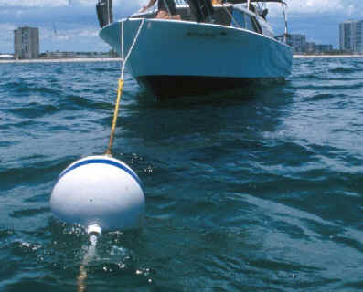Squishy Yacht Buoys : How to pick up mooring buoys on a yacht charter in Thailand