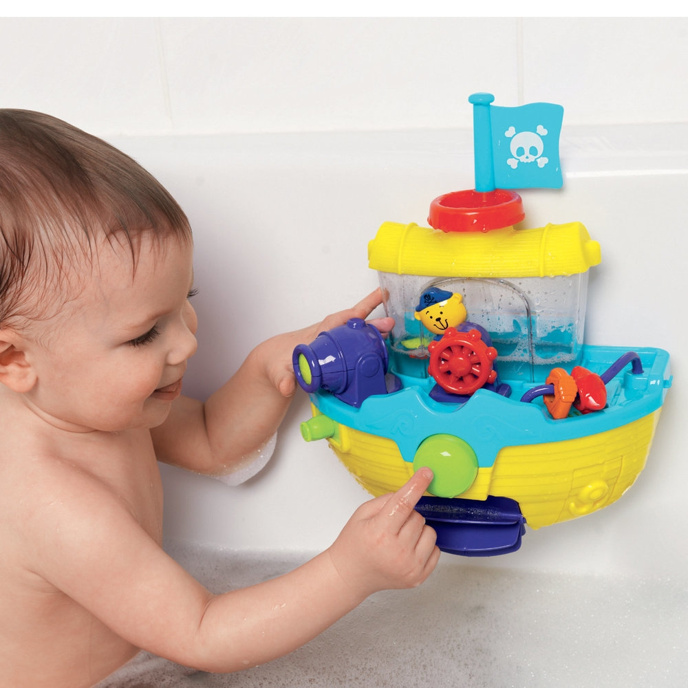 Soft toys which absorb the water or are water resistant are also great fun for the little ones.