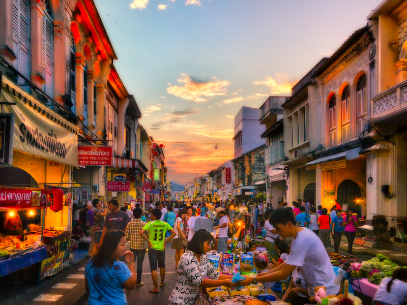 Phuket Old Town is a fantastic choice for a Christmas day wander, with its beautiful old Chino-Portuguese buildings, local food, and charming locals.