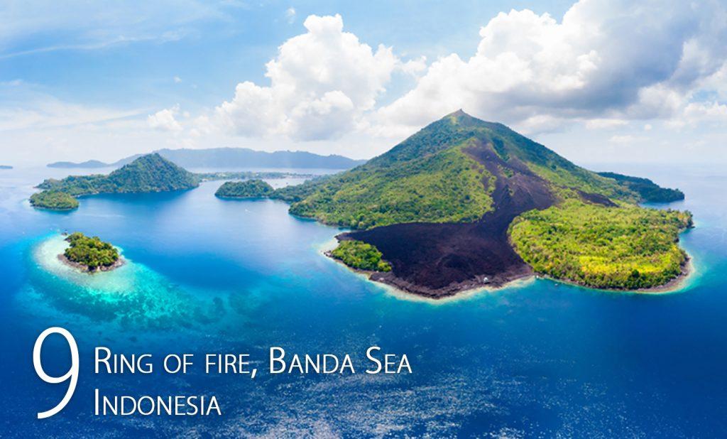 Ring of fire, Banda Sea, Indonesia