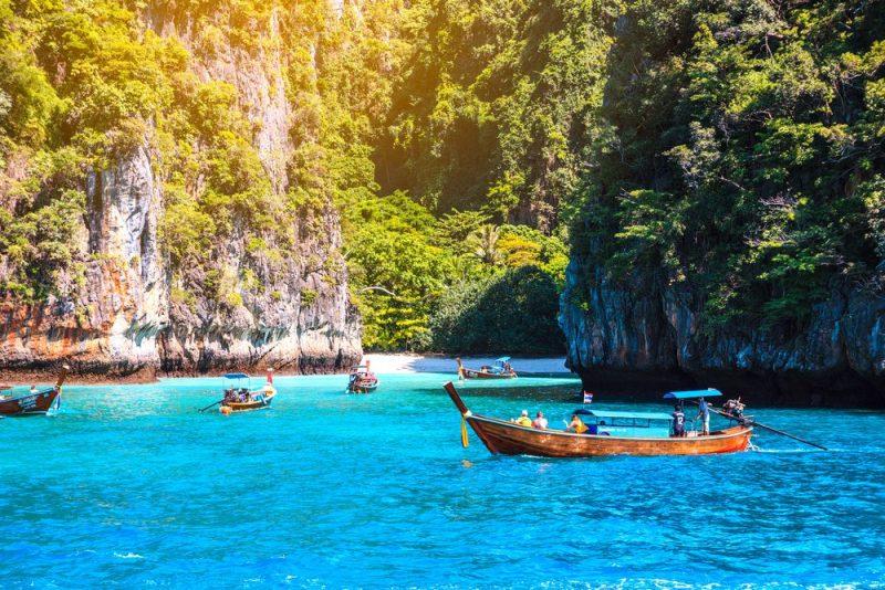 Maya bay Phi Phi Islands Andaman sea Krabi